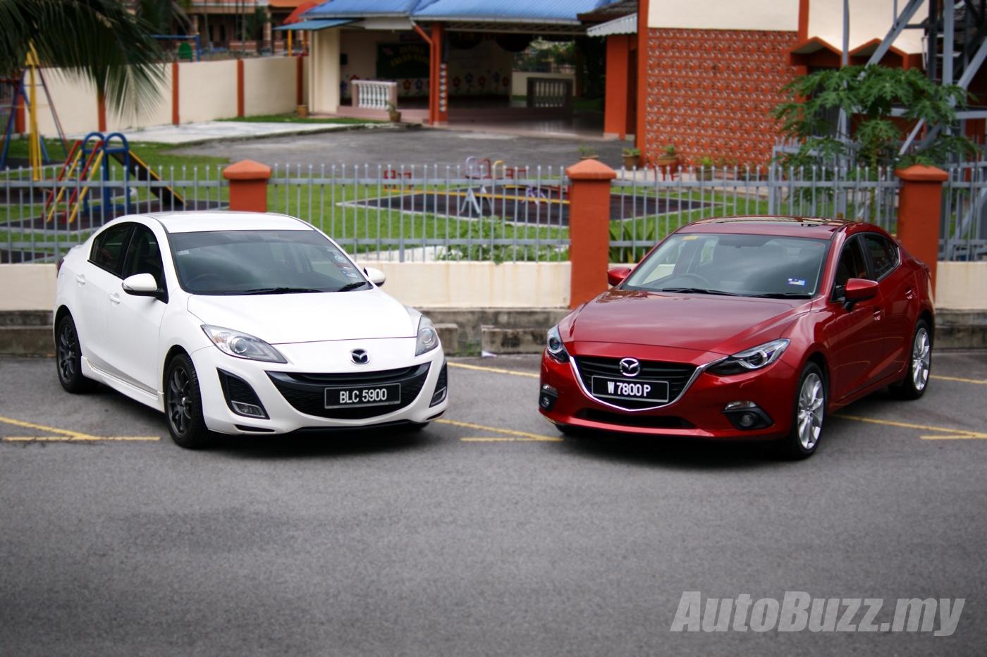 New vs Old 2014 Mazda3 20 SkyActiv  2009 Mazda3 20 Sport