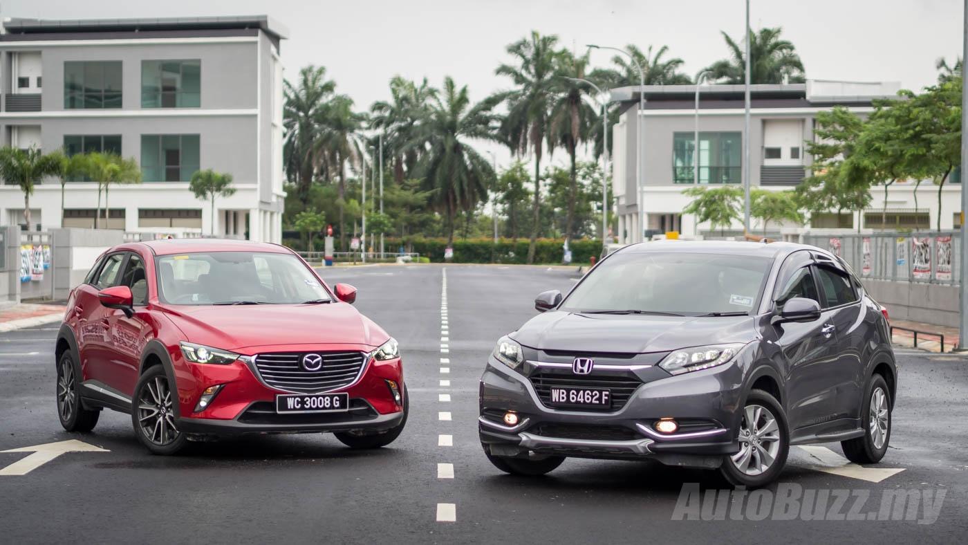 Mazda Cx 3 Vs Honda Hrv >> Review Mazda Cx 3 And Honda Hr V Compared Video