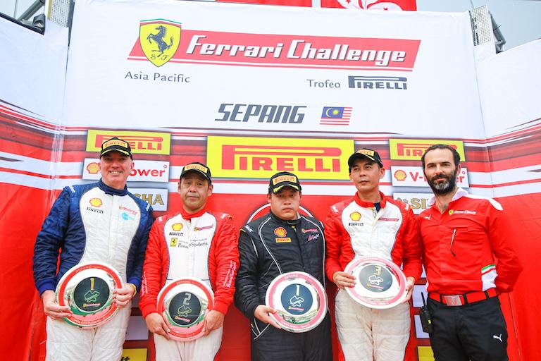 Race 2 Coppa Shell Winners. Image Source: Corse Clienti Ferrari
