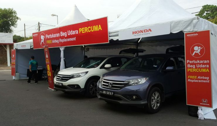 Honda Malaysia Extends Airbag Replacement Service Until 31 December 2017