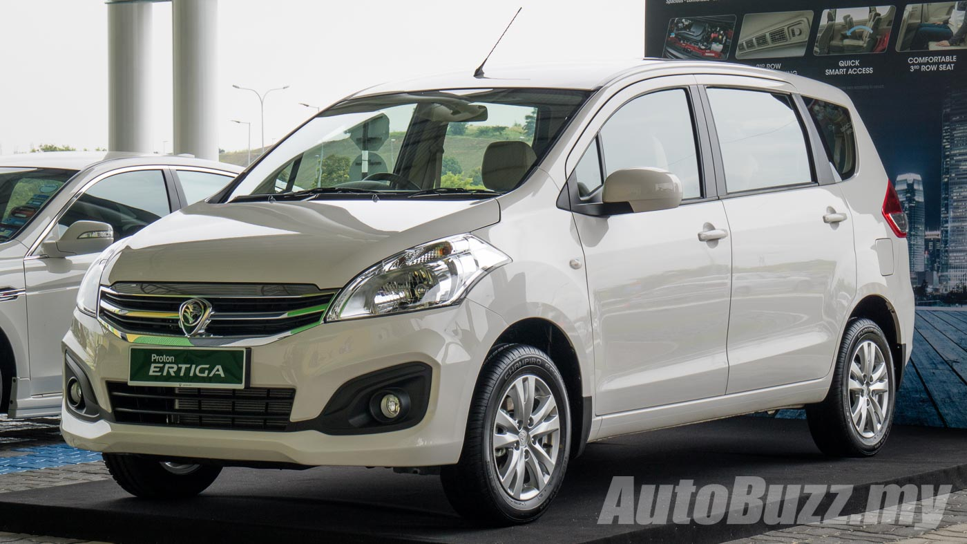 2016 Proton Ertiga launched, 3 rows, 3 variants, priced from RM59k to RM65k - AutoBuzz.my