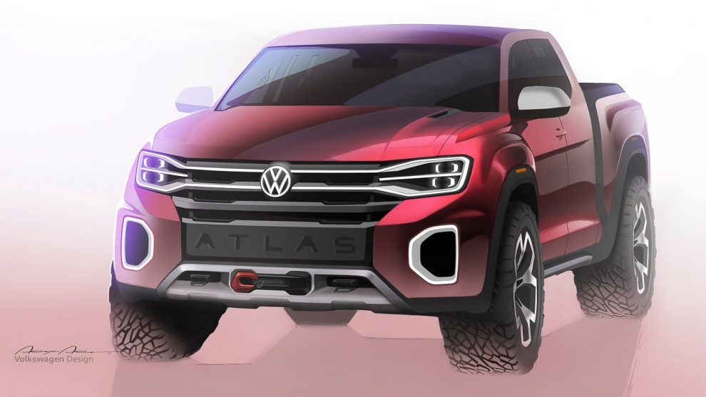 Volkswagen Atlas Tanoak Concept, V6 powered MQB-based ...