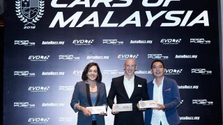 Top 3 recipients of the Driver's Cars of Malaysia award