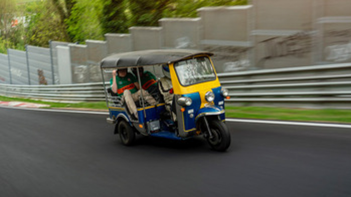 These guys just set a new Nurburgring lap record in a Tuk