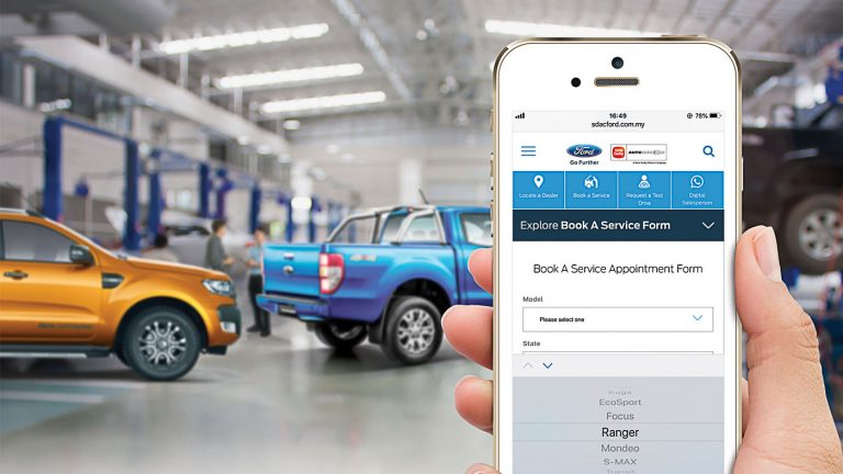 You can now book your service appointments with Ford online