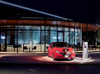 Nissan accepts electricity as payment for parking at the new Nissan Pavilion